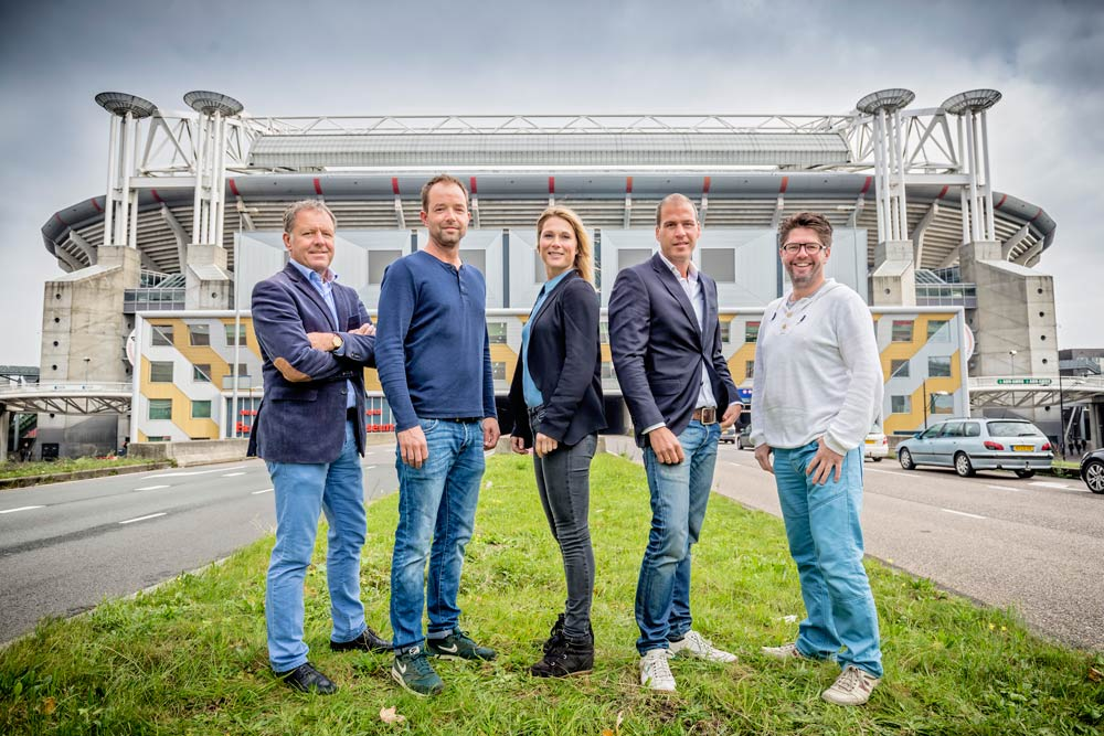Het PDA-team: v.l.n.r.               Henk van Raan - Project Director                Hein Steer - Facilities                Claire Sleijffers - Communication                Marco Gerrese - Public Affairs                Frank de Leeuw - Secretary               Josine Rienks - Commercial Affairs/Stakeholders (not shown)